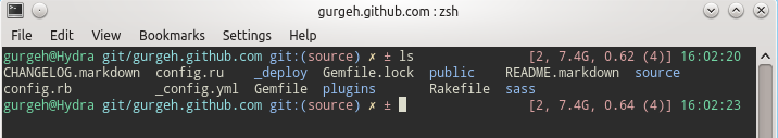 My Zsh prompt